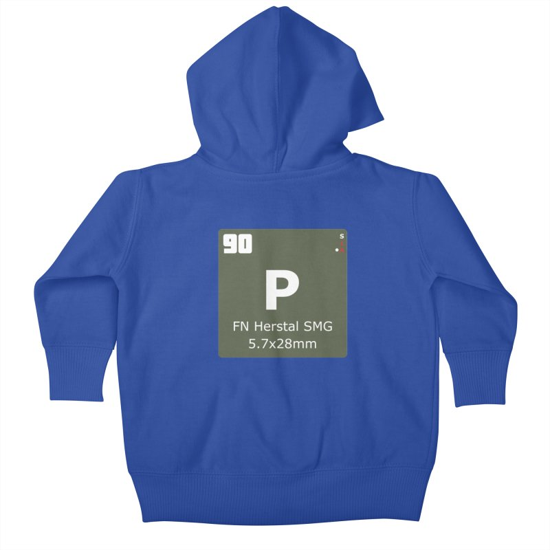 P90 FN Herstal SMG Periodic Table Design Kids Baby Zip-Up Hoody by Pixel Panzers's Merchandise