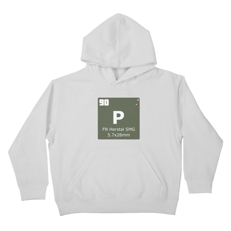 P90 FN Herstal SMG Periodic Table Design Kids Pullover Hoody by Pixel Panzers's Merchandise