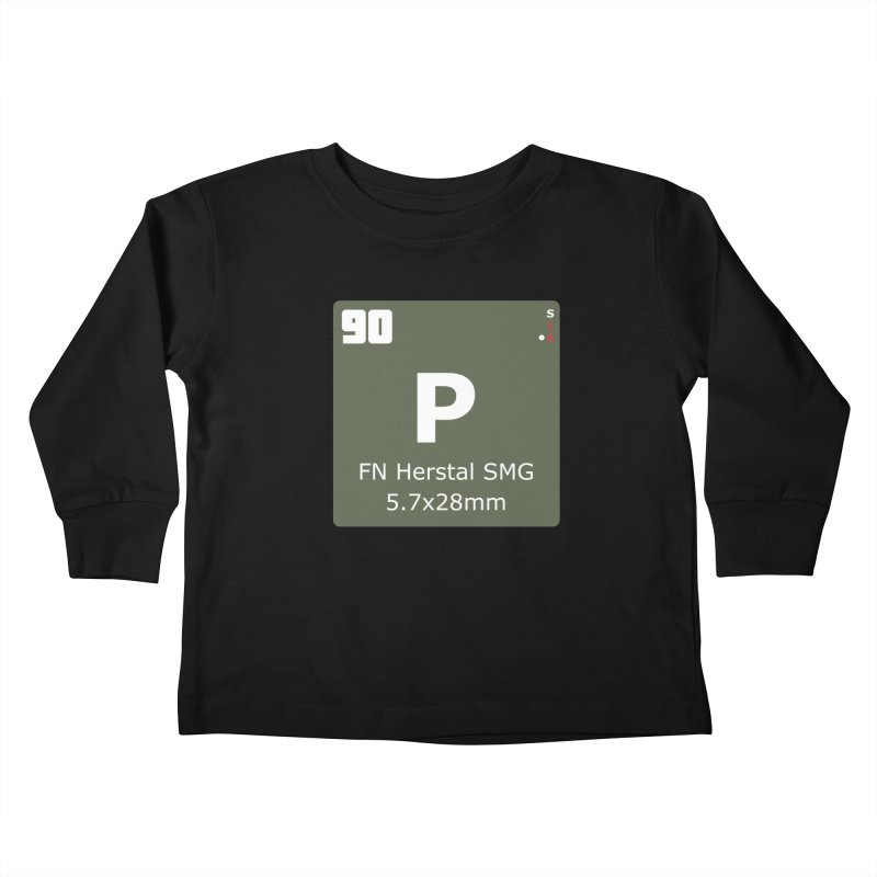 P90 FN Herstal SMG Periodic Table Design Kids Toddler Longsleeve T-Shirt by Pixel Panzers's Merchandise