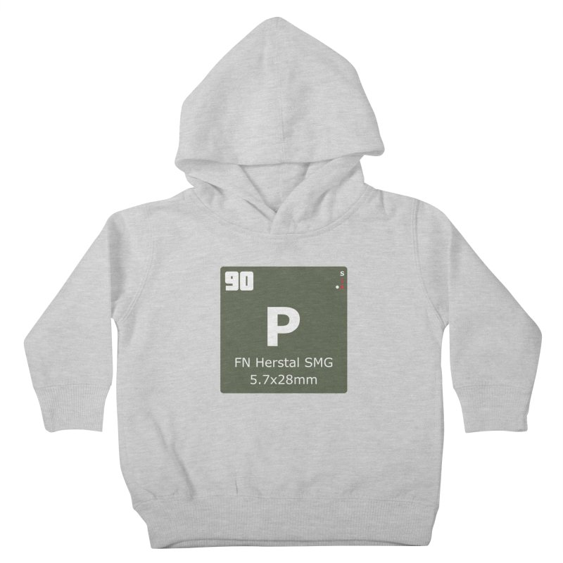 P90 FN Herstal SMG Periodic Table Design Kids Toddler Pullover Hoody by Pixel Panzers's Merchandise