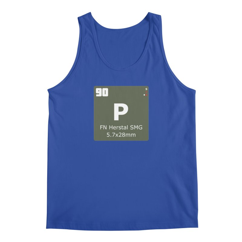 P90 FN Herstal SMG Periodic Table Design Men's Regular Tank by Pixel Panzers's Merchandise