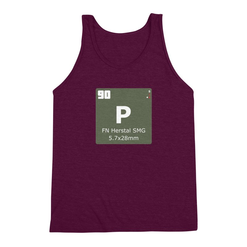 P90 FN Herstal SMG Periodic Table Design Men's Triblend Tank by Pixel Panzers's Merchandise