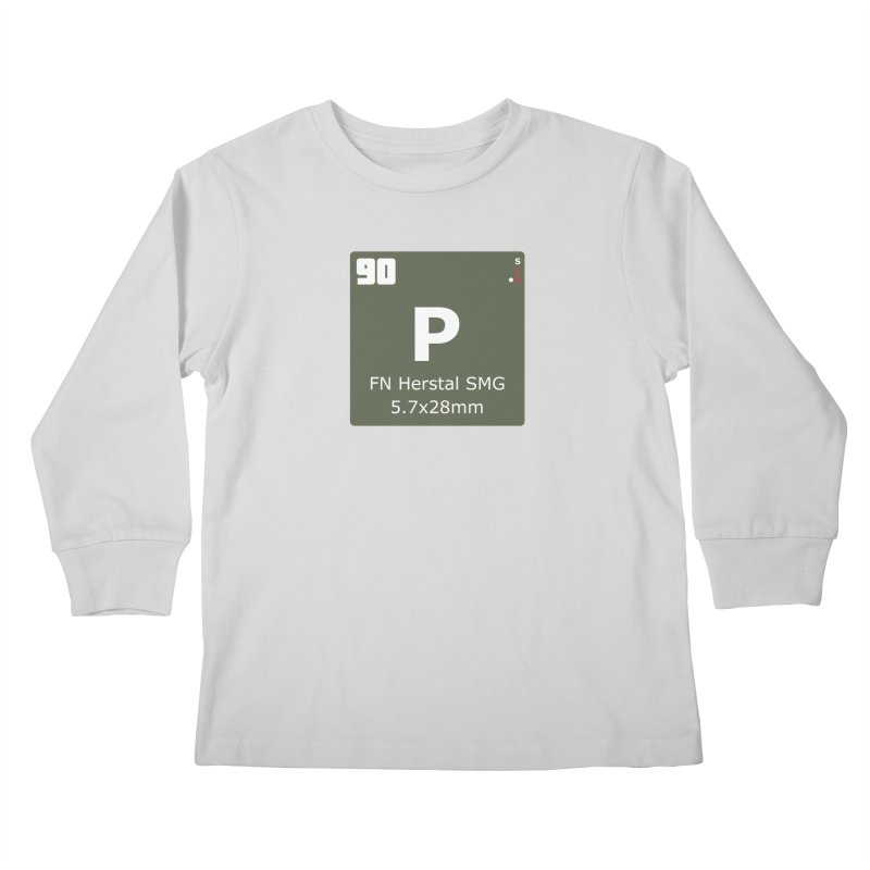 P90 FN Herstal SMG Periodic Table Design Kids Longsleeve T-Shirt by Pixel Panzers's Merchandise