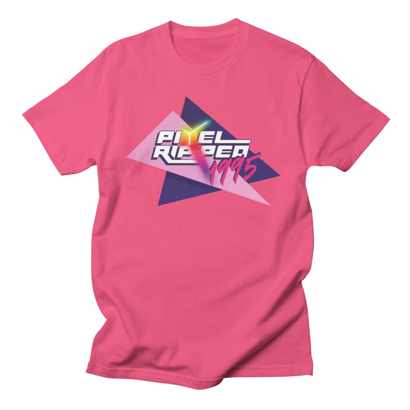 Pixel Ripped 1995 Logo Men's T-Shirt by Pixel Ripped VR Retro Game Merchandise