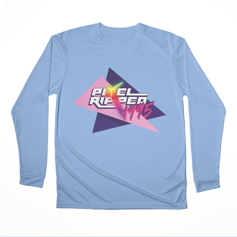 Pixel Ripped 1995 Logo Men's Longsleeve T-Shirt by Pixel Ripped VR Retro Game Merchandise