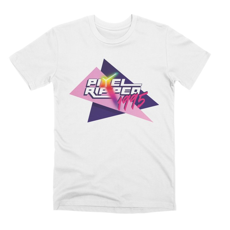Pixel Ripped 1995 Logo Men's T-Shirt by Pixel Ripped VR Retro Game Merchandise