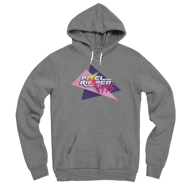 Pixel Ripped 1995 Logo Men's Pullover Hoody by Pixel Ripped VR Retro Game Merchandise