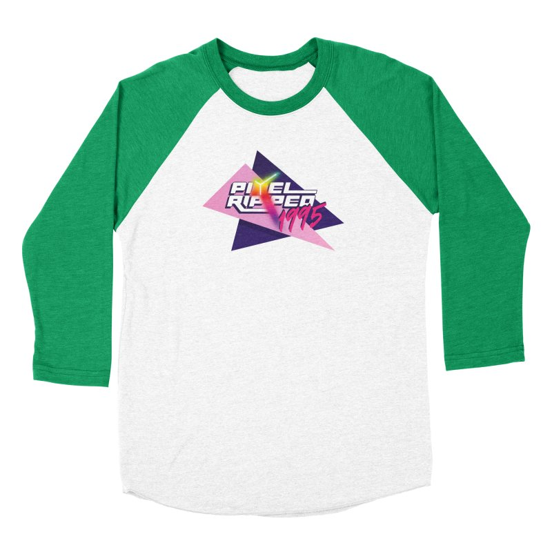 Pixel Ripped 1995 Logo Women's Longsleeve T-Shirt by Pixel Ripped VR Retro Game Merchandise