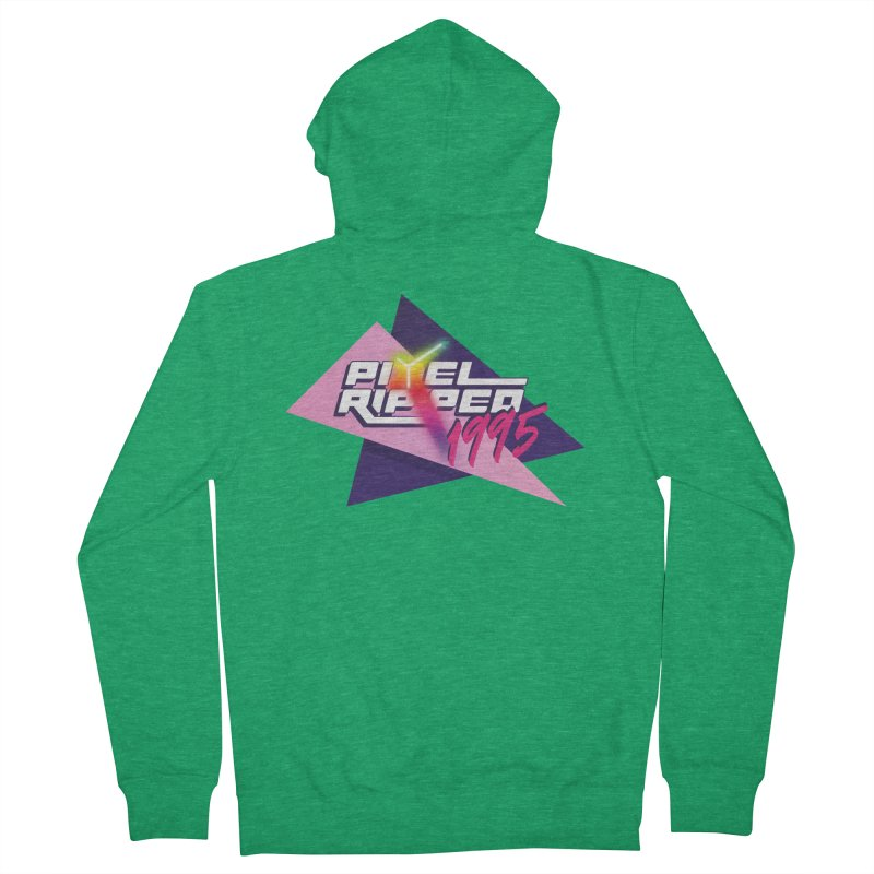 Pixel Ripped 1995 Logo Men's Zip-Up Hoody by Pixel Ripped VR Retro Game Merchandise