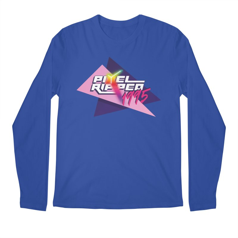 Pixel Ripped 1995 Logo Men's Longsleeve T-Shirt by Pixel Ripped VR Retro Game Merchandise