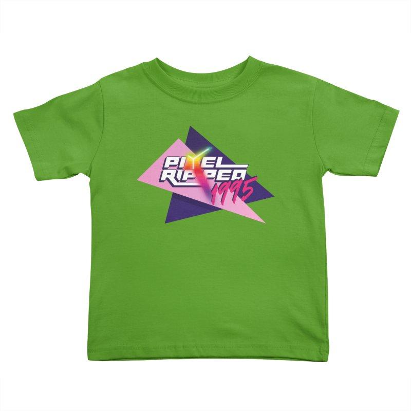 Pixel Ripped 1995 Logo Kids Toddler T-Shirt by Pixel Ripped VR Retro Game Merchandise