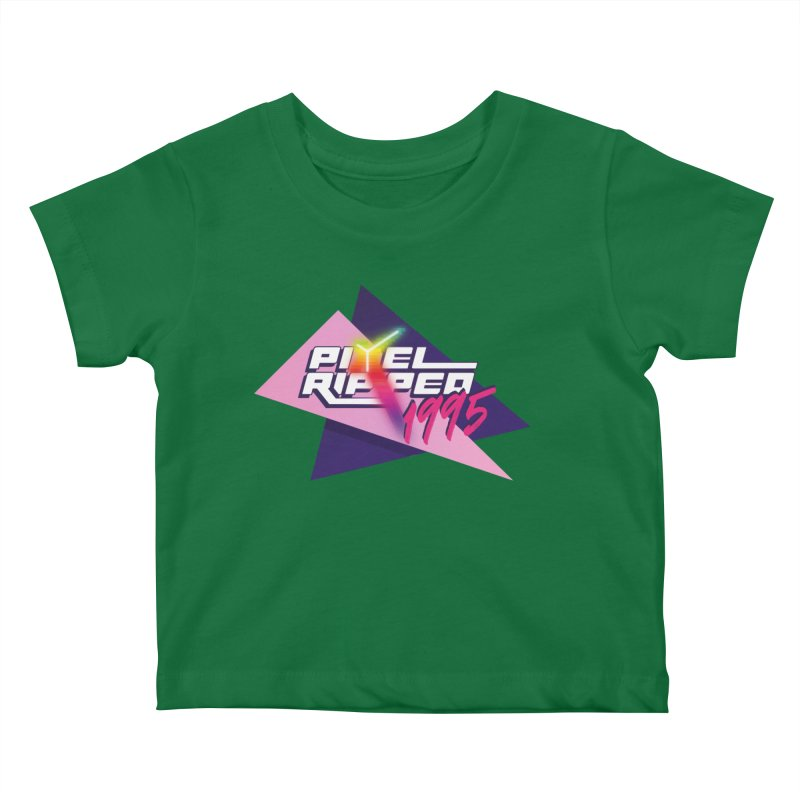 Pixel Ripped 1995 Logo Kids Baby T-Shirt by Pixel Ripped VR Retro Game Merchandise