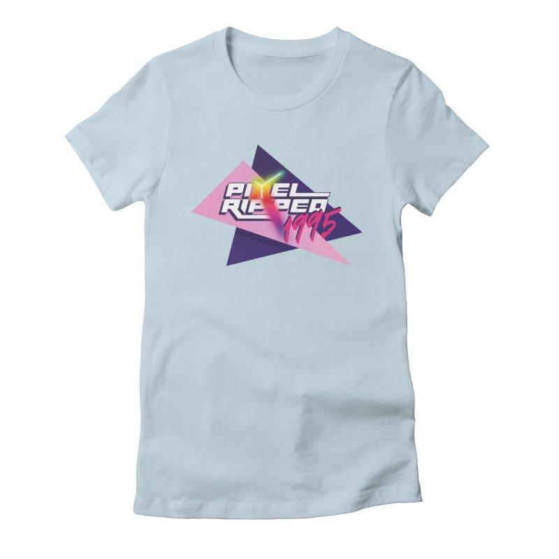Pixel Ripped 1995 Logo Women's T-Shirt by Pixel Ripped VR Retro Game Merchandise
