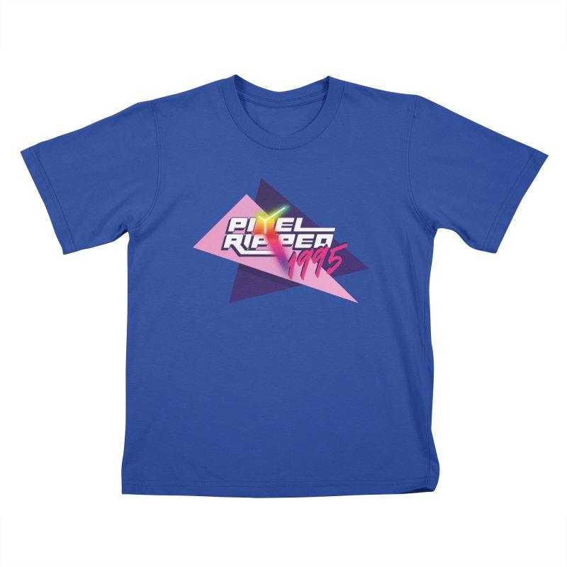 Pixel Ripped 1995 Logo Kids T-Shirt by Pixel Ripped VR Retro Game Merchandise