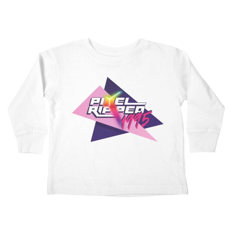 Pixel Ripped 1995 Logo Kids Toddler Longsleeve T-Shirt by Pixel Ripped VR Retro Game Merchandise