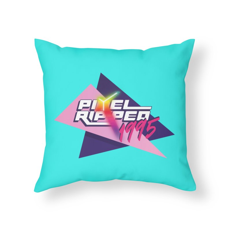 Pixel Ripped 1995 Logo Home Throw Pillow by Pixel Ripped VR Retro Game Merchandise