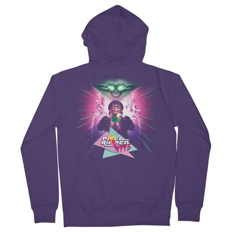 Pixel Ripped 1995 Women's Zip-Up Hoody by Pixel Ripped VR Retro Game Merchandise