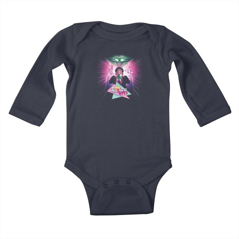 Pixel Ripped 1995 Kids Baby Longsleeve Bodysuit by Pixel Ripped VR Retro Game Merchandise