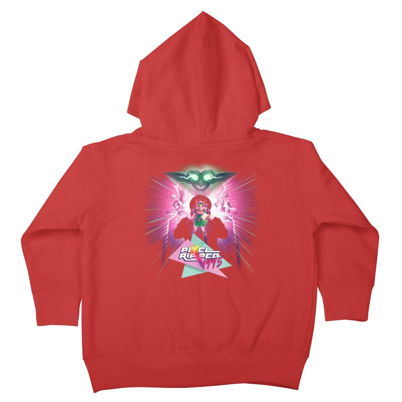 Pixel Ripped 1995 Kids Toddler Zip-Up Hoody by Pixel Ripped VR Retro Game Merchandise