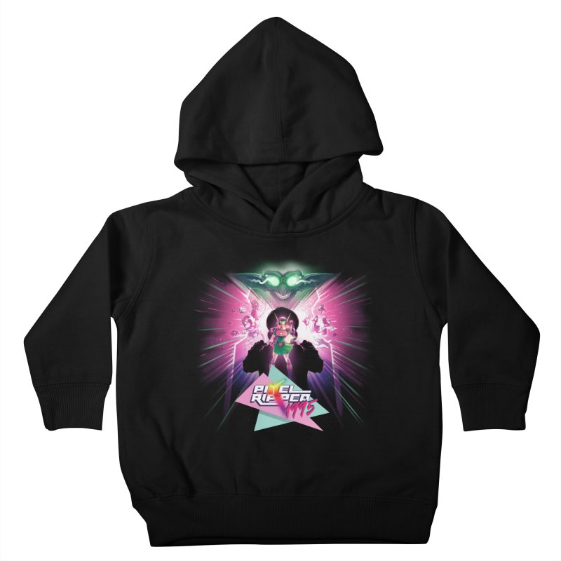 Pixel Ripped 1995 Kids Toddler Pullover Hoody by Pixel Ripped VR Retro Game Merchandise