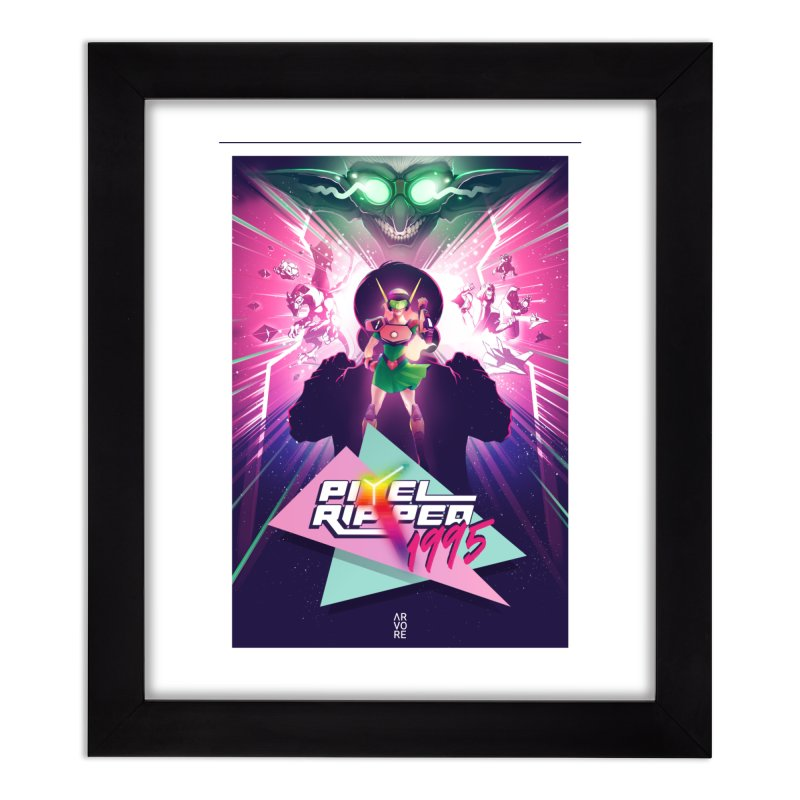 Pixel Ripped 1995 Home Framed Fine Art Print by Pixel Ripped VR Retro Game Merchandise
