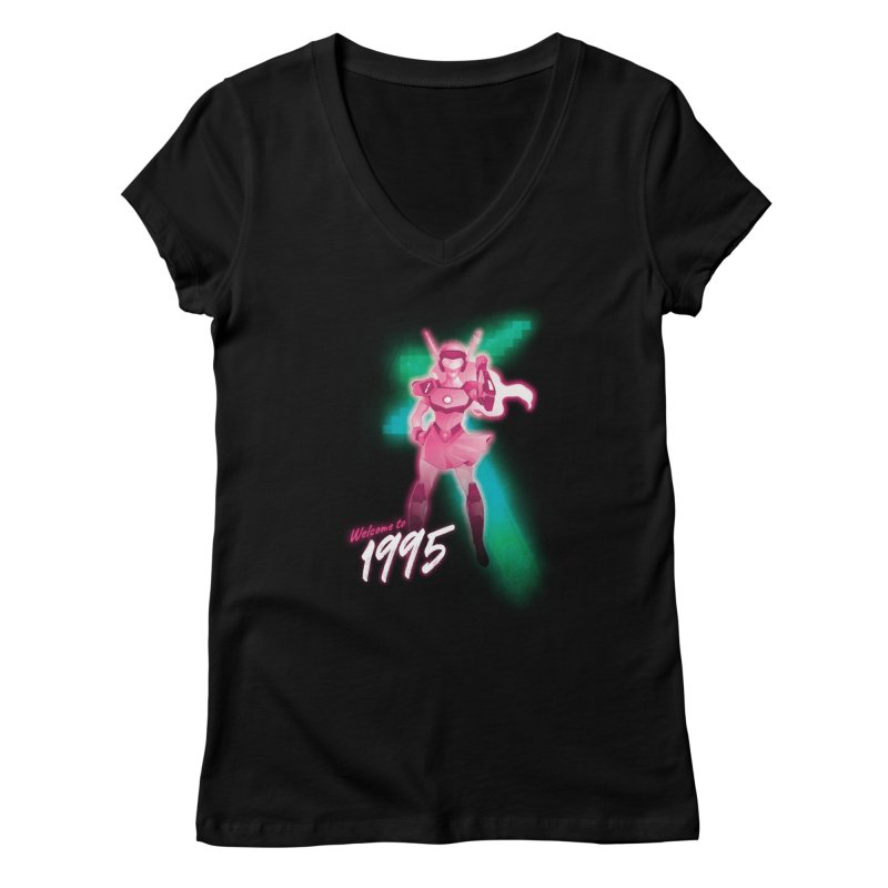 Welcome to 1995 Women's V-Neck by Pixel Ripped VR Retro Game Merchandise