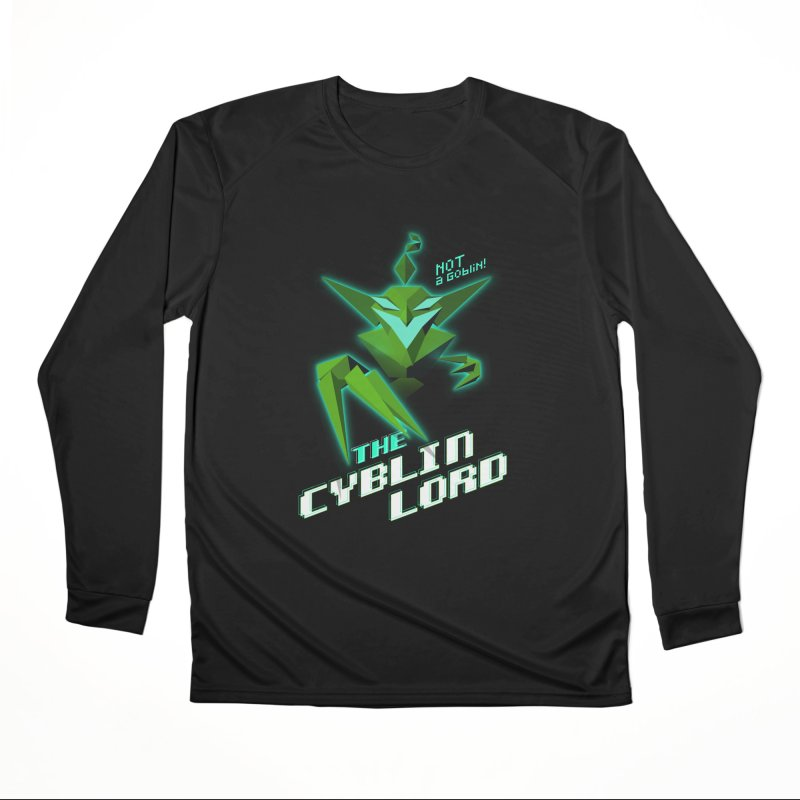 The Cyblin Lord Men's Longsleeve T-Shirt by Pixel Ripped VR Retro Game Merchandise
