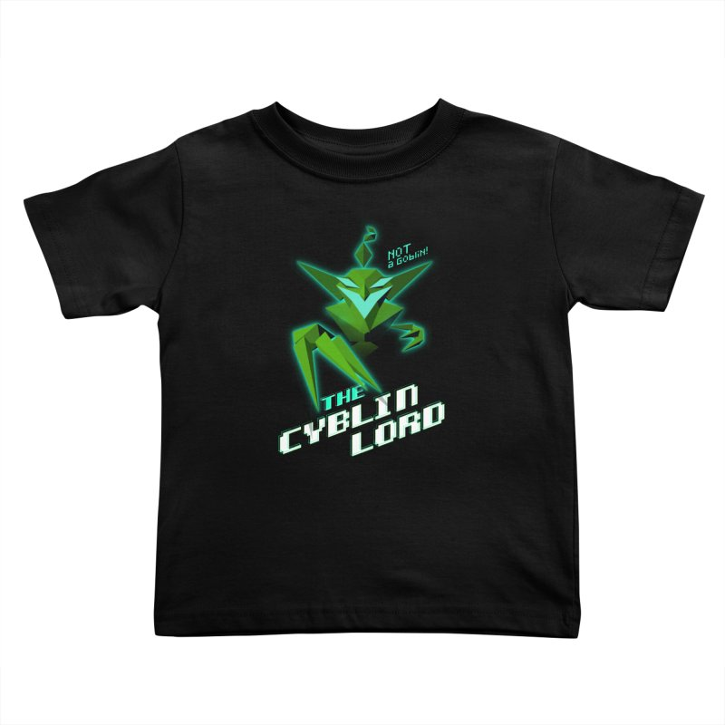 The Cyblin Lord Kids Toddler T-Shirt by Pixel Ripped VR Retro Game Merchandise