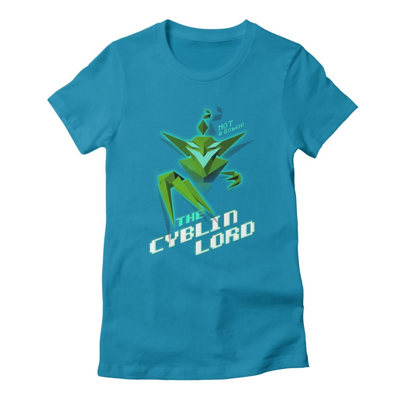 The Cyblin Lord Women's T-Shirt by Pixel Ripped VR Retro Game Merchandise