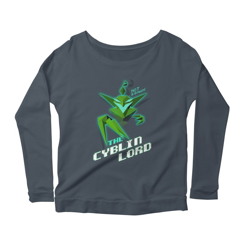 The Cyblin Lord Women's Longsleeve T-Shirt by Pixel Ripped VR Retro Game Merchandise