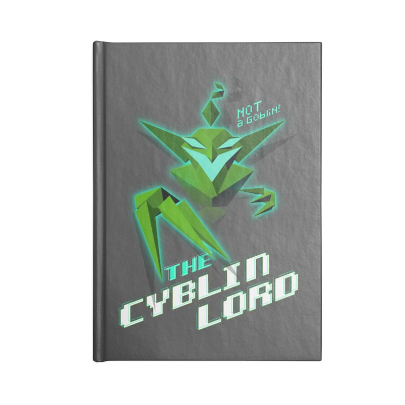 The Cyblin Lord Accessories Notebook by Pixel Ripped VR Retro Game Merchandise