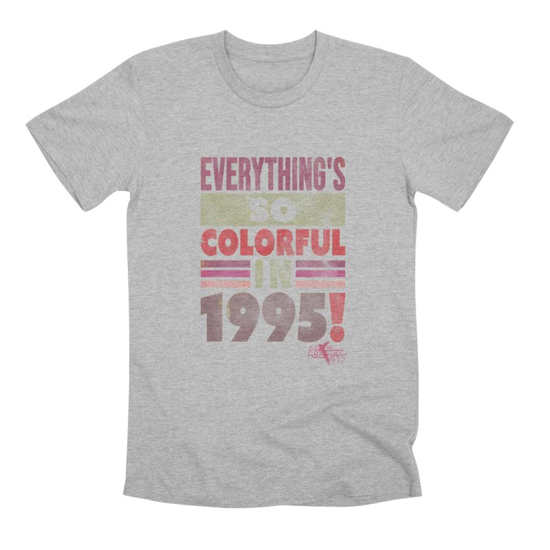 Everything's so colorful in 1995 Men's T-Shirt by Pixel Ripped VR Retro Game Merchandise