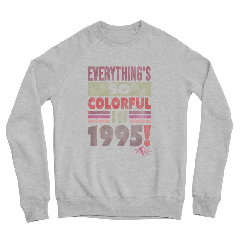 Everything's so colorful in 1995 Men's Sweatshirt by Pixel Ripped VR Retro Game Merchandise