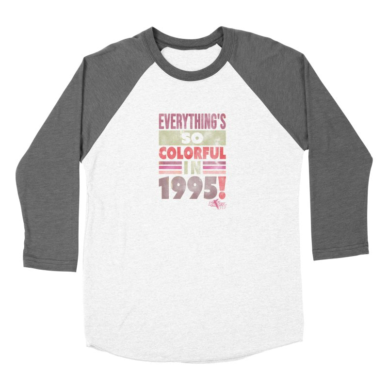 Everything's so colorful in 1995 Women's Longsleeve T-Shirt by Pixel Ripped VR Retro Game Merchandise