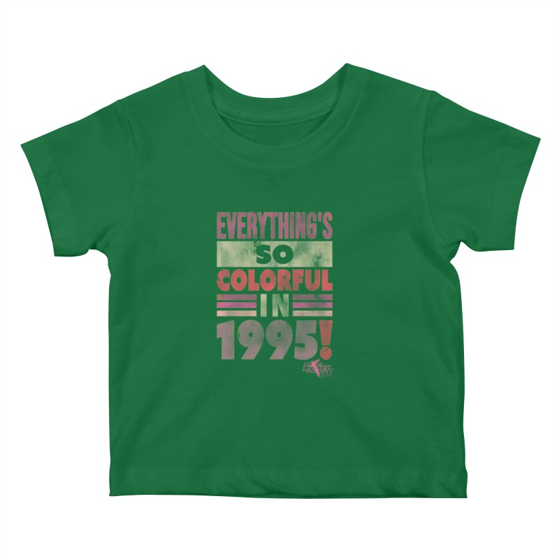 Everything's so colorful in 1995 Kids Baby T-Shirt by Pixel Ripped VR Retro Game Merchandise
