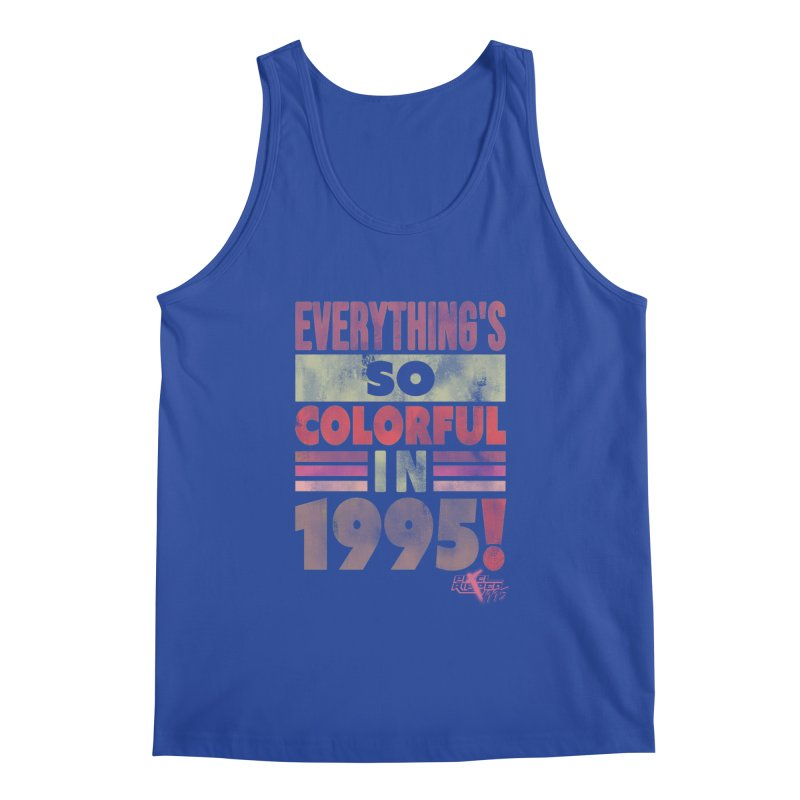 Everything's so colorful in 1995 Men's Tank by Pixel Ripped VR Retro Game Merchandise