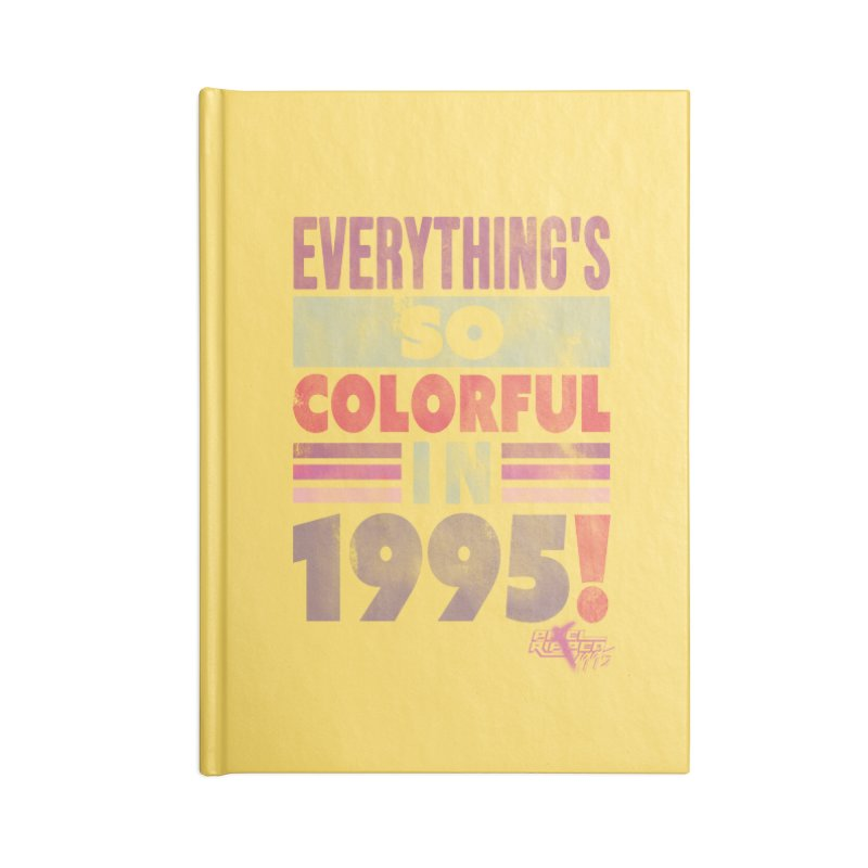 Everything's so colorful in 1995 Accessories Notebook by Pixel Ripped VR Retro Game Merchandise