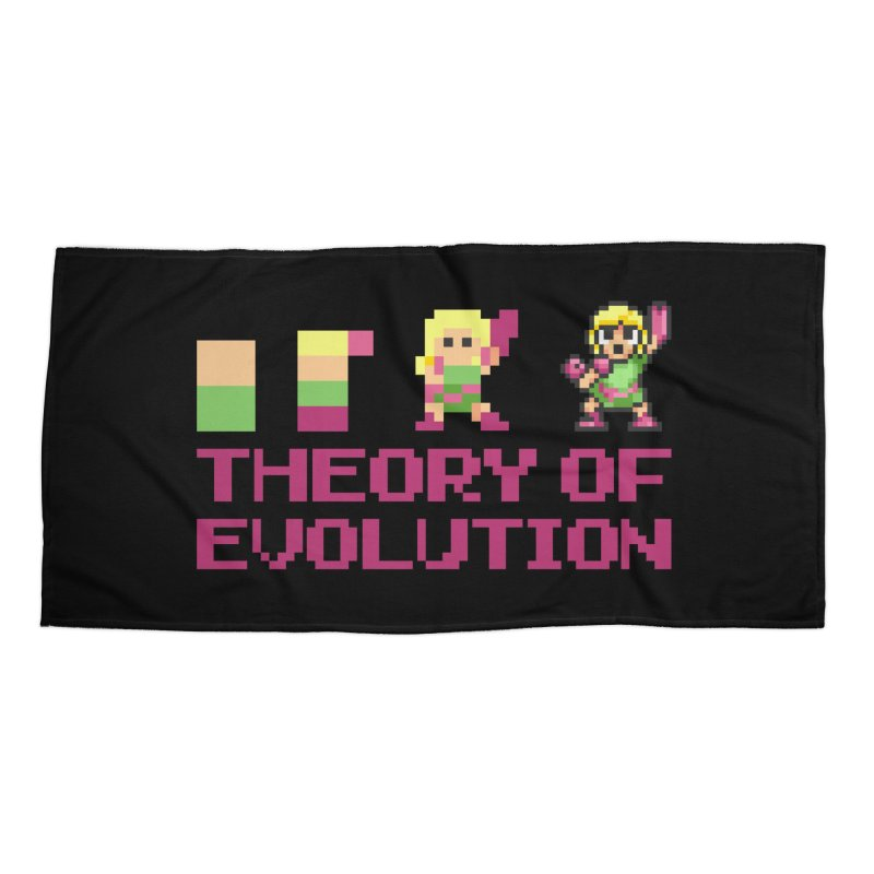 Theory of Evolution Accessories Beach Towel by Pixel Ripped VR Retro Game Merchandise