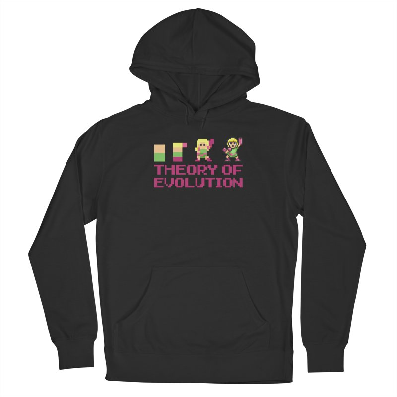 Theory of Evolution Men's Pullover Hoody by Pixel Ripped VR Retro Game Merchandise