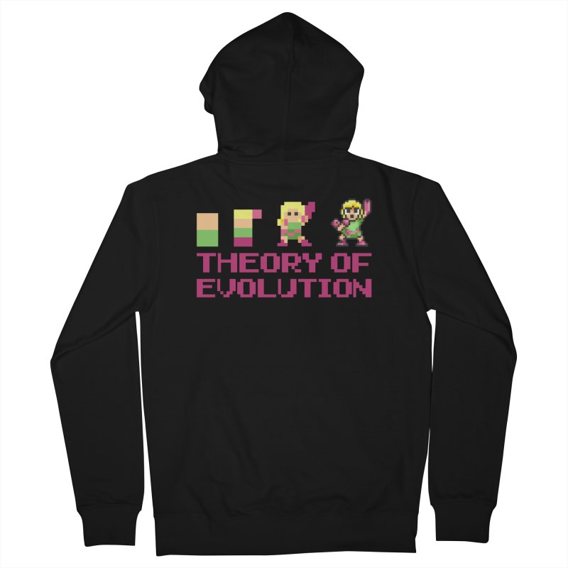 Theory of Evolution Men's Zip-Up Hoody by Pixel Ripped VR Retro Game Merchandise