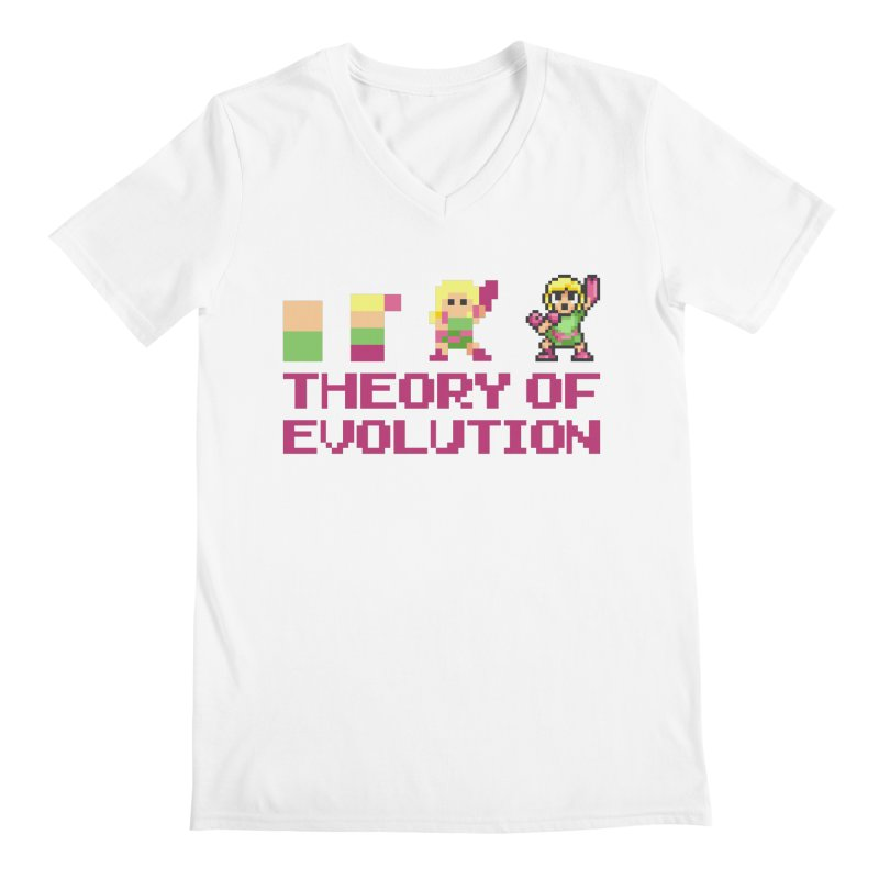 Theory of Evolution Men's V-Neck by Pixel Ripped VR Retro Game Merchandise