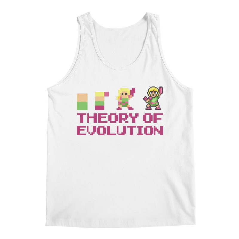Theory of Evolution Men's Tank by Pixel Ripped VR Retro Game Merchandise
