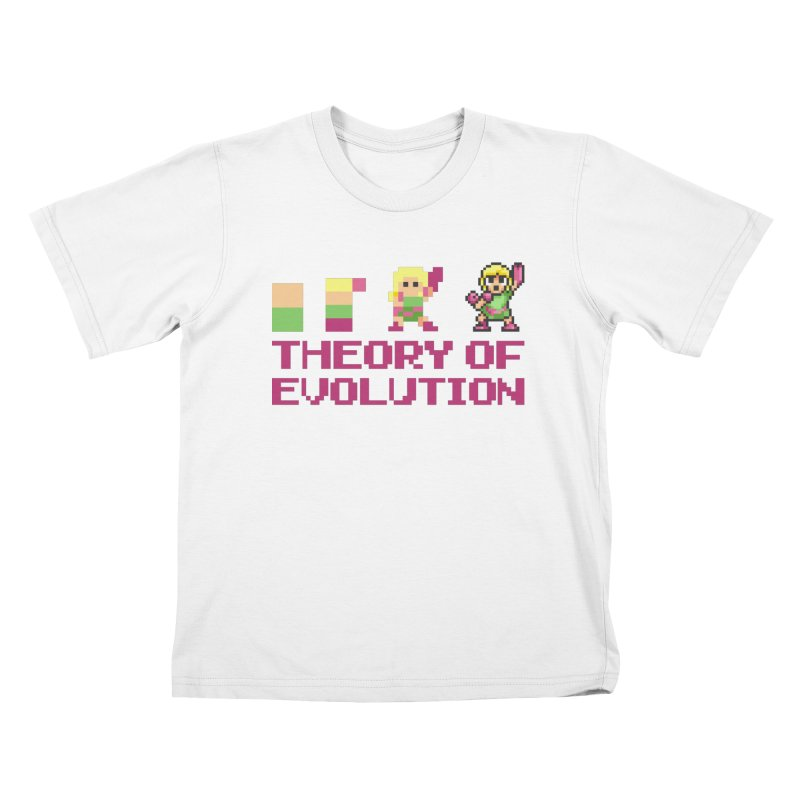 Theory of Evolution Kids T-Shirt by Pixel Ripped VR Retro Game Merchandise