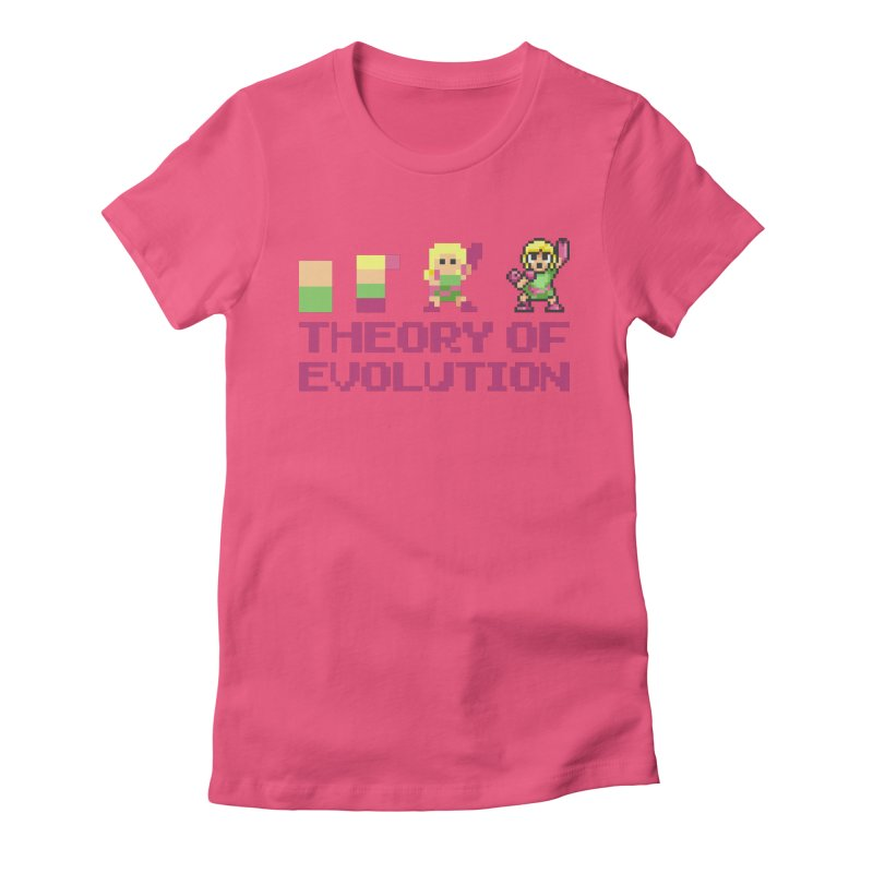 Theory of Evolution Women's T-Shirt by Pixel Ripped VR Retro Game Merchandise