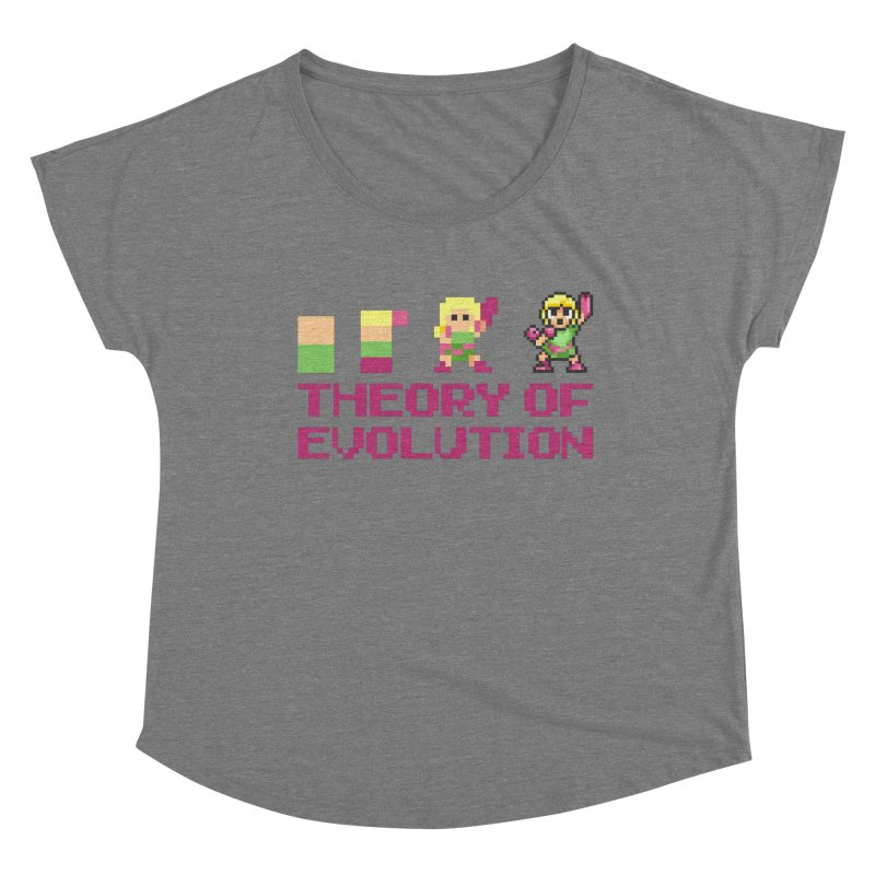 Theory of Evolution Women's Scoop Neck by Pixel Ripped VR Retro Game Merchandise