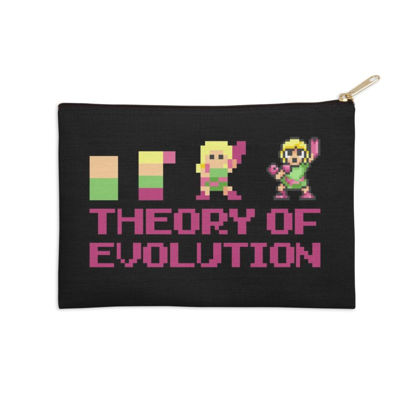 Theory of Evolution Accessories Zip Pouch by Pixel Ripped VR Retro Game Merchandise