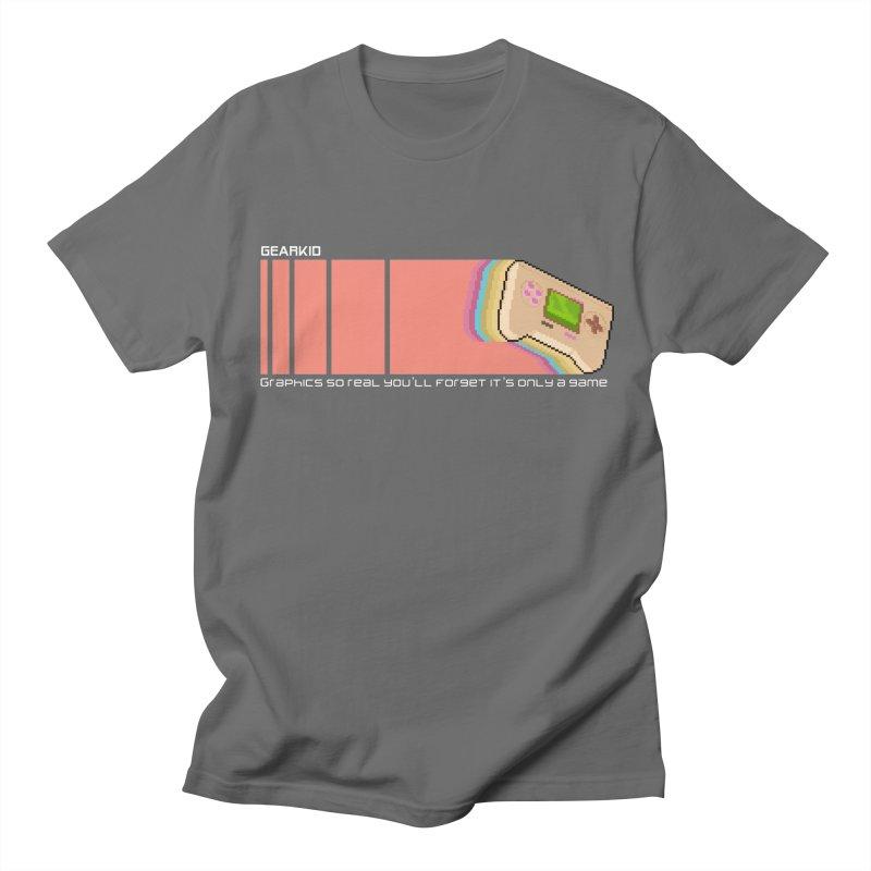 Gearkid Stripes B Men's T-Shirt by Pixel Ripped VR Retro Game Merchandise