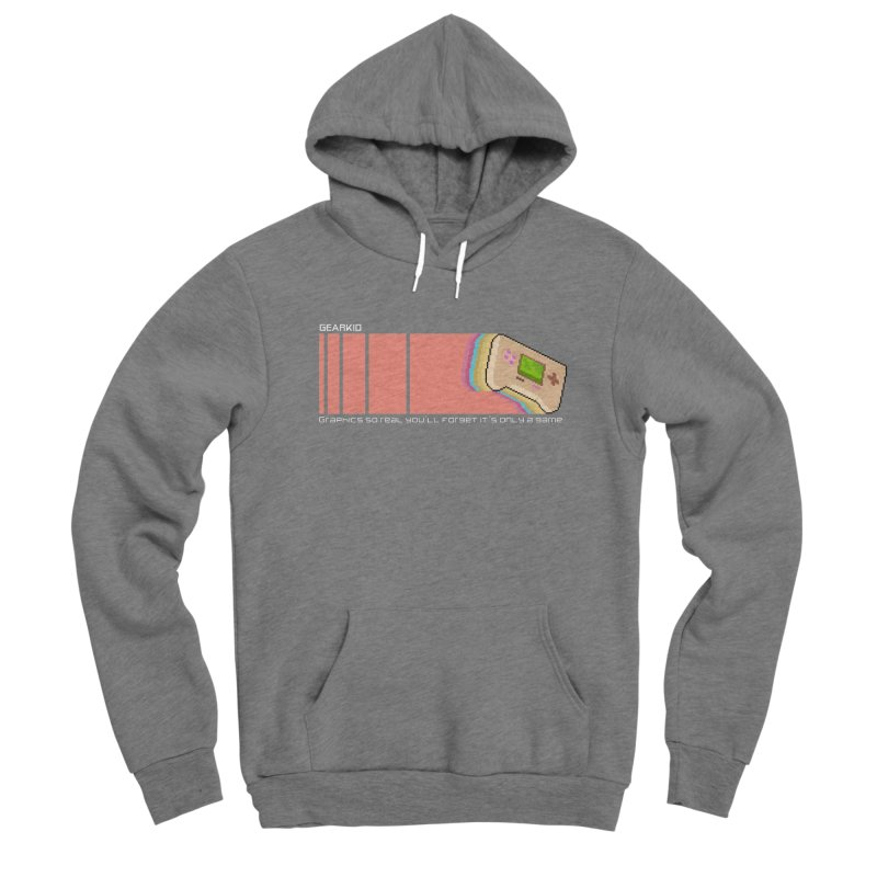 Gearkid Stripes B Men's Pullover Hoody by Pixel Ripped VR Retro Game Merchandise
