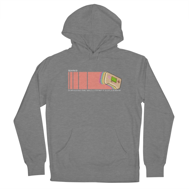 Gearkid Stripes B Women's Pullover Hoody by Pixel Ripped VR Retro Game Merchandise
