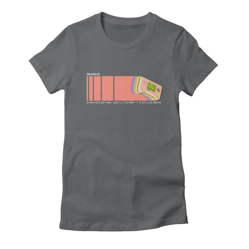 Gearkid Stripes B Women's T-Shirt by Pixel Ripped VR Retro Game Merchandise